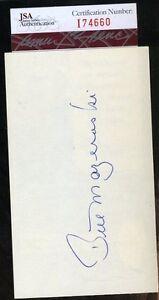 Bill-Mazeroski-Jsa-Certed-Signed-3x5-Index-Card-Authentic-Autograph