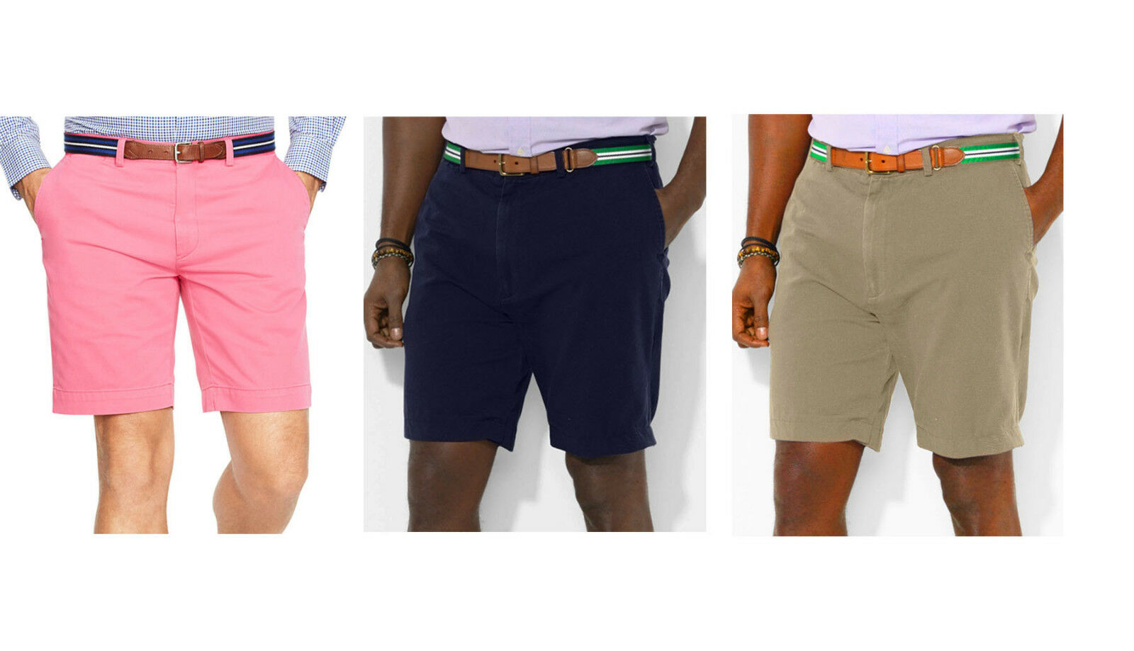 Polo Ralph Lauren Mens Solid Flat Front Preston Casual Shorts New