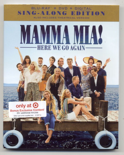 Mamma Mia 2 Here We Go Again Blu Ray Musical Movie 114 Minutes For