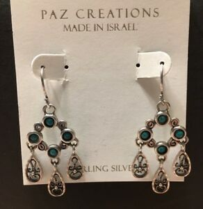 Image Is Loading Nwt Or Paz Sterling Silver 925 Dangling Filigree
