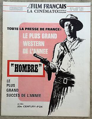 LE FILM FRANCAIS La Cinématographie Française HOMBRE Paul Newman 1967  *