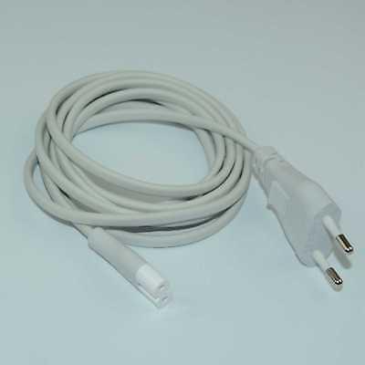 2M Volex AC Power Supply Adapter cord Cable Connectors 2 pin 2-prong EU Plug