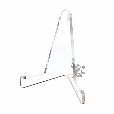 """3-3/8"""" Clear Acrylic Display Stand Easels with 3/4"""" Shelf Qty: 12"""