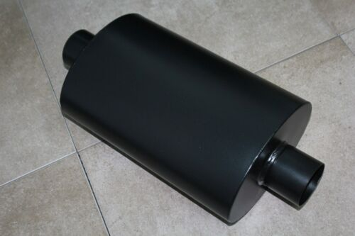 """Toyota Universal 2.5/"""" Inlet Outlet Oval Turbo Muffler Black Camry Celica Corolla"""