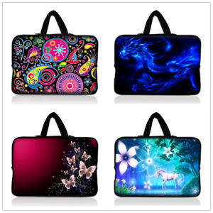 "17/"" 17.3/"" Laptop Bag Handle Carry Sleeve Case Cover Hand Bag for Notebook Print"