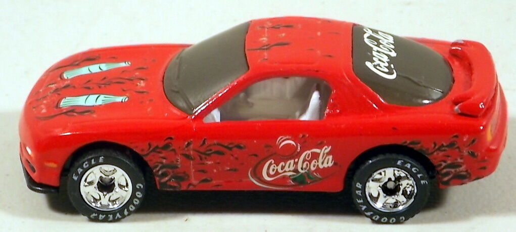 DTE MATCHBOX SUPERFAST PREPRO 8-J RED MAZDA RX7 W COCA-COLA DECALS