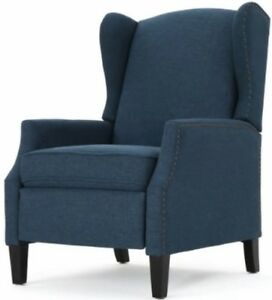 Wondrous Details About Navy Blue Wingback Accent Club Recliner Chairs Armchair Recliners Wing Arm Chair Gamerscity Chair Design For Home Gamerscityorg