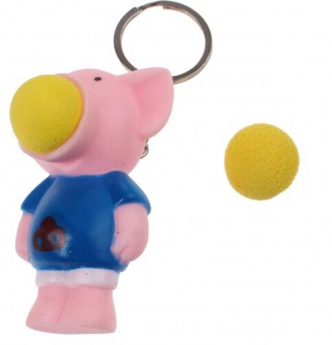 Toi-Toys Schlüsselanhänger Kugel Popper Schwein 3-teilig