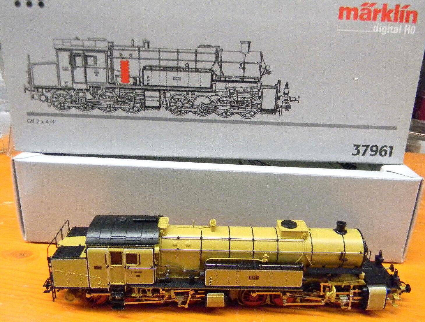 37961 Märklin H0 Dampflok Mallet Gtl 2x 4 4 Digital OVP loco HO 1 87 Modellltrain