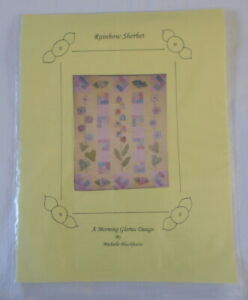 New Craft Pattern Rainbow Sherbet Morning Glories Design Ebay