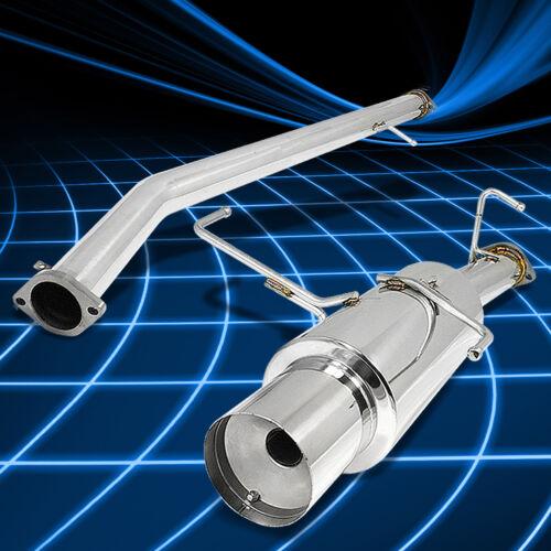 "4.5/"" MUFFLER TIP RACING CATBACK EXHAUST SYSTEM FOR 95-98 240SX SILVIA S14 KA24"