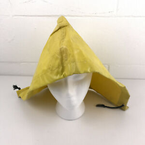 Yellow-PVC-Rain-Jacket-Hood-Replacement-Medium-Older-Carhartt-or-Norton-hbx16