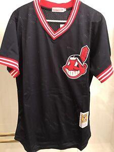 bcaa3f9b059 Men s Cleveland Indians Jersey  30 Joe Carter   Naquin Navy Mesh ...