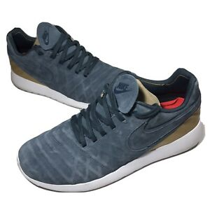 Mens-Nike-Roshe-Tiempo-VI-FC-Size-9-5-US-Blue-Fox-Grey-Gold-Shoes-852613-400