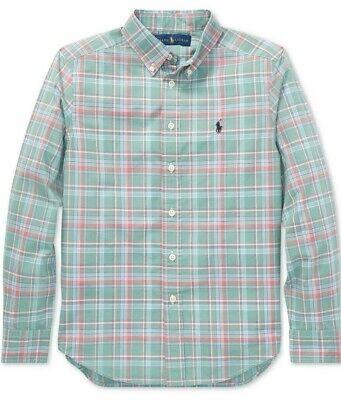Polo Ralph Lauren Boys Long Sleeve Green Plaid Button Down Shirt
