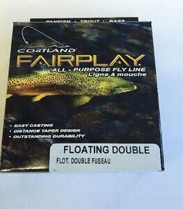 Cortland Fairplay fly Fishing Line, Floating Double Taper ...