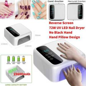 72W-Cordless-LED-UV-Nail-Lamp-Light-Gel-Polish-Nail-Dryer-Wireless-Rechargeable