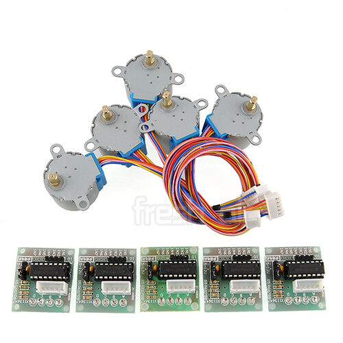 5X Stepper Motor 28BYJ-48 + ULN2003 Driver Test Module Board for Arduino