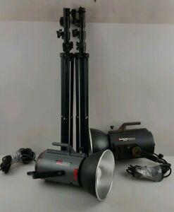 Courtenay-Solaflash-2500-Studio-Flash-Courtenay-Solaflash-1000S-With-Tripods