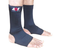 AQF Ankle Foot Support Anklet Pad Brace Guard MMA Muay Thai Boxing Exercise L