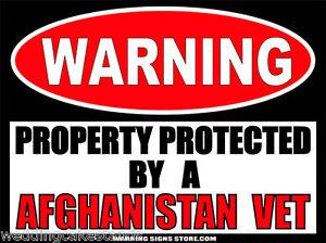Afghanistan-Vet-Funny-Warning-Sign-Bumper-Sticker-Decal-DZ-WS260