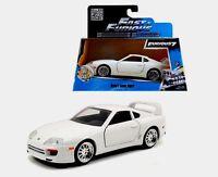 Jada Toys 1/32 Brian's Toyota Supra White Color Fast And Furious 7 Diecast Car..