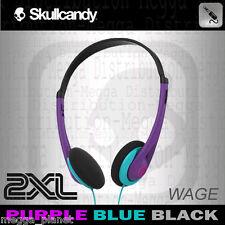 Skullcandy 2XL Wage Headband Lightweight Stereo Headphones PURPLE/BLUE/BLACK