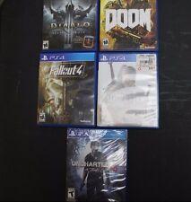 PS4 Games Bundle (Uncharted 4, Fallout 4, Doom, Diablo 3 ultimate evil, Witcher)