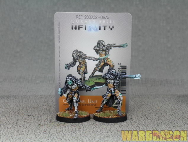 30 mm Infinity WDS painted Tohaa Gao-Rael Unit (Spitfire FUSIL SNIPER) k46