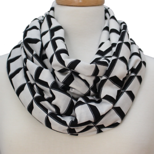 Pop-Op-Art-Black-Rayon-Blend-Infinity-Fashion-Scarf-gift-for-women