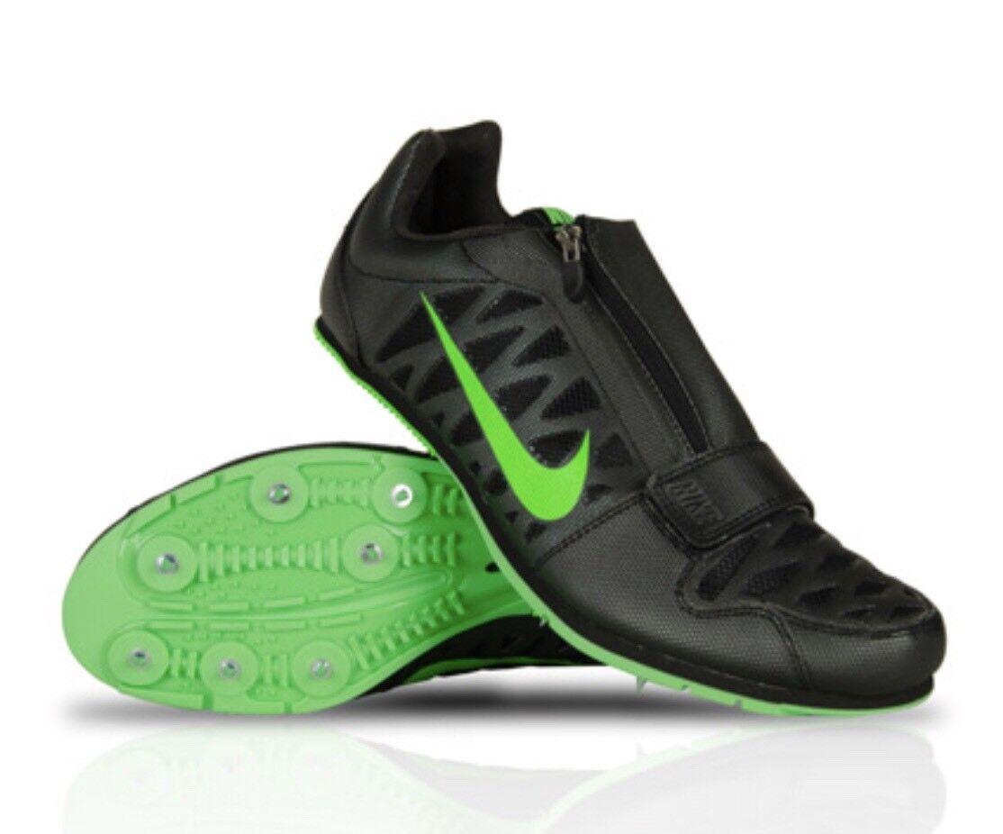 Nike Zoom LJ 4 Long Jump Track Spikes Mens 12 Shoe New Black Green Purple Zipper Seasonal price cuts, discount benefits