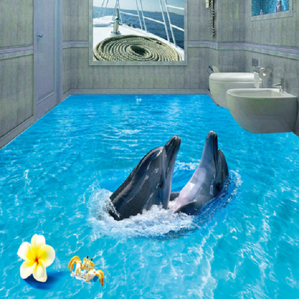 3D Crab Dolphins Sea 45 Floor WallPaper Murals Wall Print Decal AJ WALLPAPER