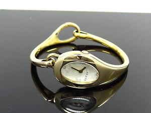 da8e3495863 Gucci YA103537 Horsebit Mother-of-Pearl Diamond Dial 103 Series Gold ...