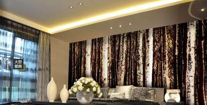 3D Many Straight Tree Trunk Wallpaper Decal Decor Home Kids Nursery Mural  Home