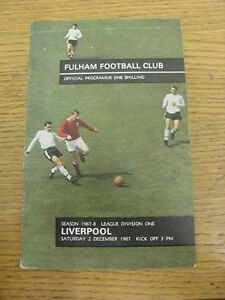02-12-1967-Fulham-v-Liverpool-Footy-Progs-Bobfrankandelvis-experienced-selle