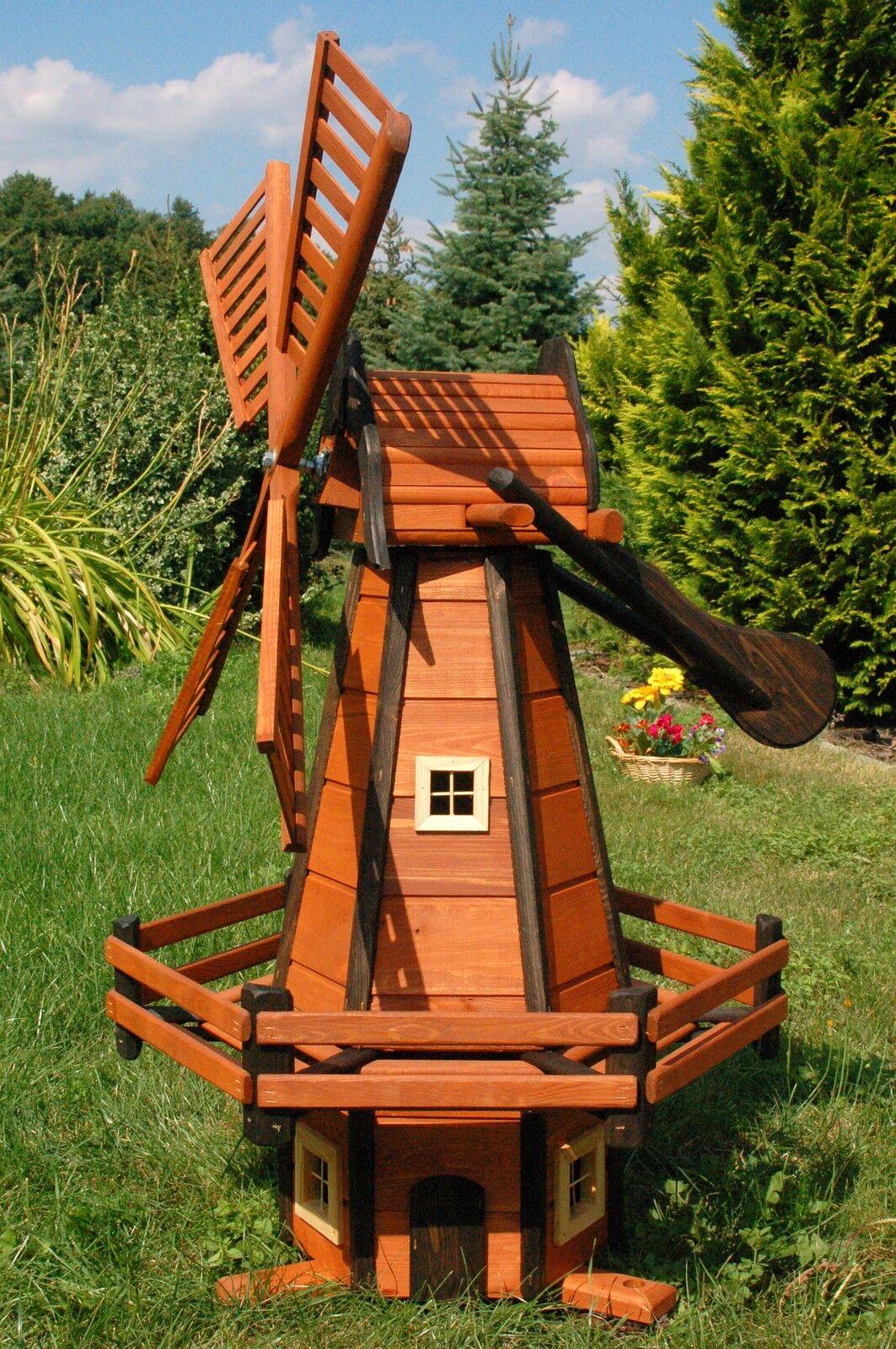 I mulini a vento LEGNO MULINO olandese ART 1,20 M impregnato kugelg., da giardino h1