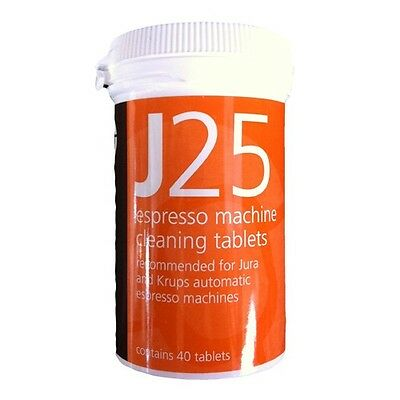 40x Cafetto J25 Coffee Maker Espresso Machine Cleaning Tablets Jura and Krups