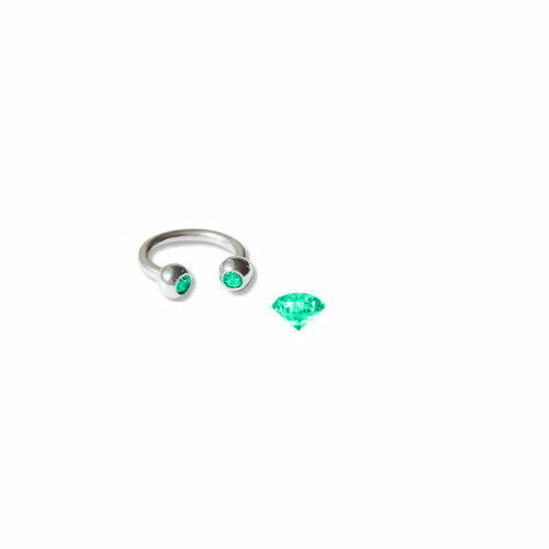 Herradura piercing Barbell acero con 2 circonita 9 colores para elegir