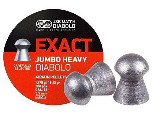 Match Diabolo Exact Jumbo Heavy .22 Cal 18.13 Grains Domed 500ct