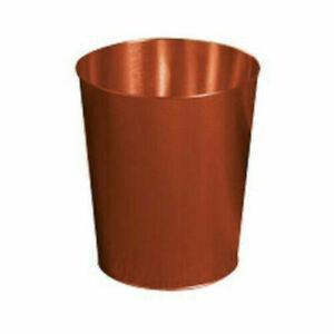 Copper Waste Bin Home Office Gold Bathroom Living Room Kitchen Paper Trash Can Ebay