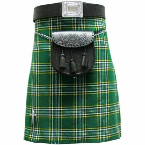 Scottish Tartan Kilts 8 yard 12oz Highland with Sprrans and belt casual wear
