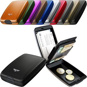 Tru-Virtu-Kreditkarten-Etui-Geldboerse-Portemonnaie-Aluminium-Oyster-II-RFID