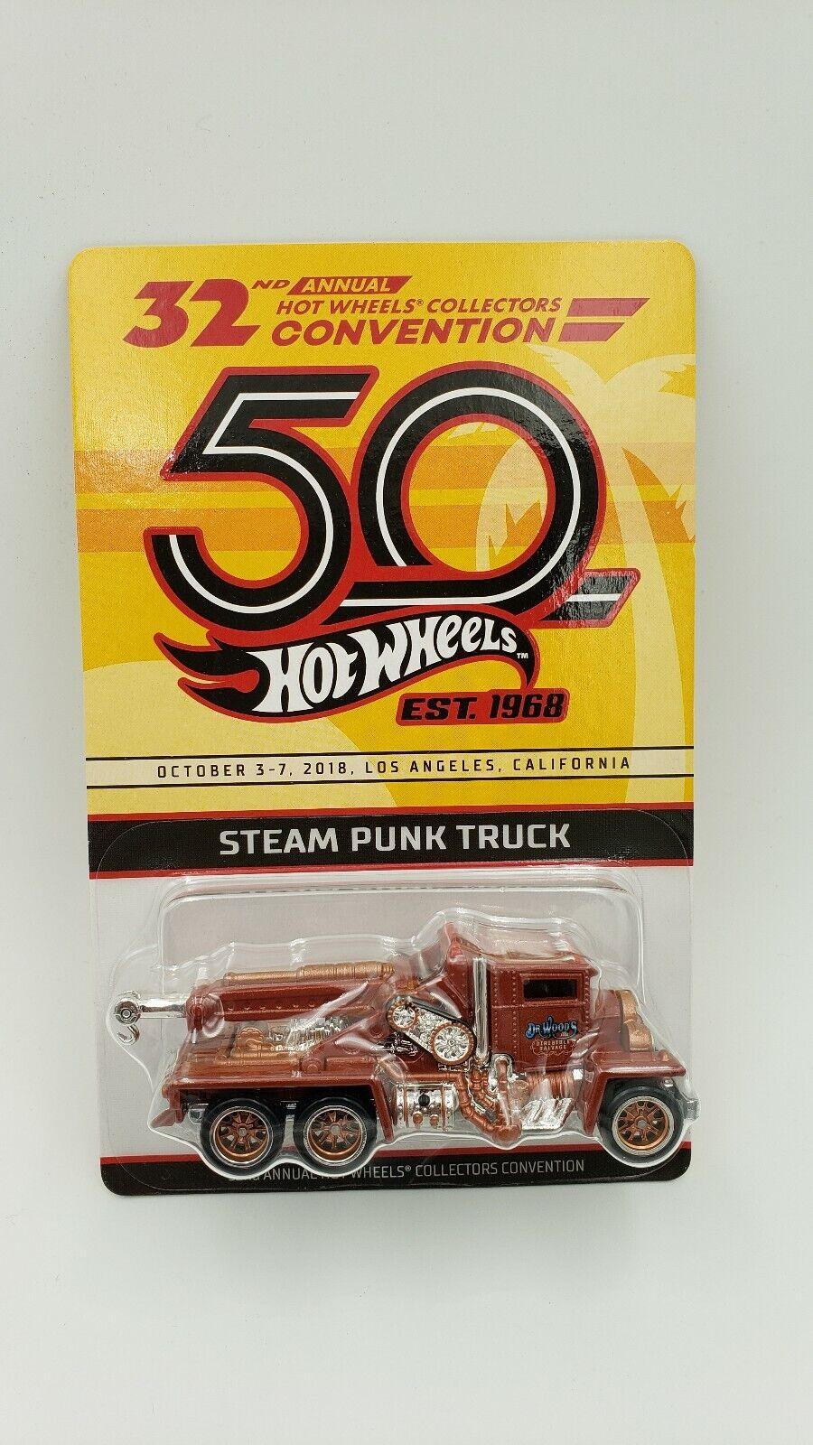 entrega rápida Hot Wheels 32nd cena anual de la Convención de coleccionista coleccionista coleccionista Vapor Punk Camión  Todos los productos obtienen hasta un 34% de descuento.