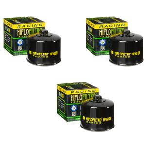 2 Pack Pack of 2 Hiflofiltro 2 Pack HF160RC-2 Black Premium Racing Oil Filter