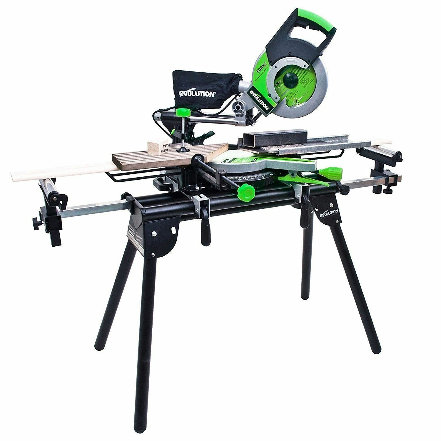 Evolution Mitre Saw Bench Stand Table With Extensions Universal Workstation Chop