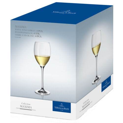 VILLEROY /& BOCH collection Maxima vin blanc chopes verres 4 Pack