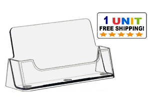 New CLEAR Acrylic Desktop Business Card Holder Display 685248567586