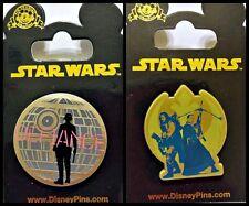 Disney Parks 2 Pin Lot STAR WARS Rogue Rebel Alliance + Defiance Death Star NEW