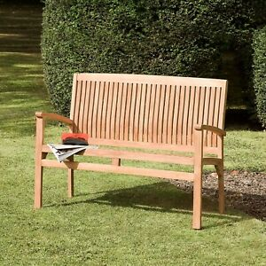 Details About Bali Teak Hardwood Quality 3 Or 2 Seater Garden Outdoor Bench