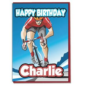 Personnalise Cyclisme Anniversaire Carte Garcons Hommes Fils Mari Petit Ami Papa Ebay